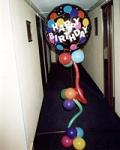 """19. Композиция """"Поющий шар С днем рождения!"""". Шары-фольга,латекс,гелий - 1200р."""