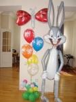 37. Заяц и букет(воздух,гелий)-1500р.