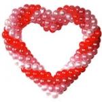 33.Сердце одинарное на каркасе (воздух)-800р.