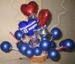 """34. Букет настольный """"8 марта"""". Фольга,латекс,воздух - 1000р."""