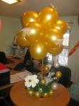 35.Букет из шаров и цветов (воздух)-1500р.