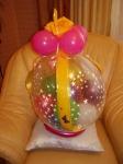 7. Подарок в шаре с маленькими шариками. Латекс, воздух - от 300р. (подарок не включен).