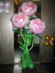 """10. Букет """"3 розы"""". Латекс, воздух, фольга, гелий -1500р."""