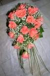 """22. Букет невесты """"Розовые розы"""" - 2500р."""
