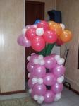 28. Букет 7 цветков в вазе. Латекс,воздух-1300р.