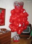 1. Букет из шаров-сердец(гелий+хай-флот)-2500р.