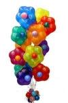 """7. Букет """"Цветочные шары"""" гелий+хай-флот -  1200р."""